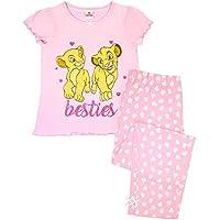 Lion King Disney Besties Simba & Nala Cubs Girl's Pink Long Pyjamas