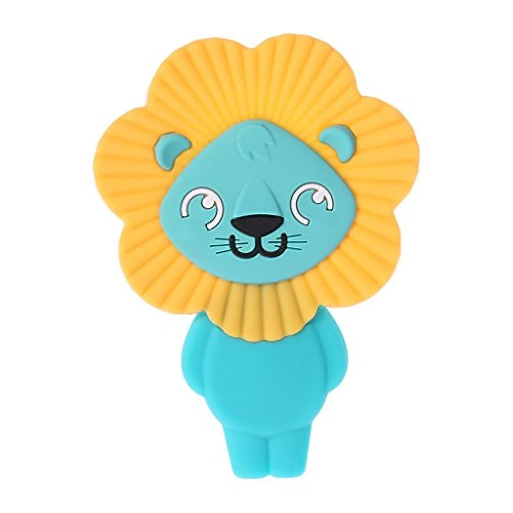 民主主義イサカ苦いLanddumシリコーンおしゃぶりかわいいライオンのおしゃぶり赤ちゃん看護玩具かむ玩具歯が生えるガラガラ玩具