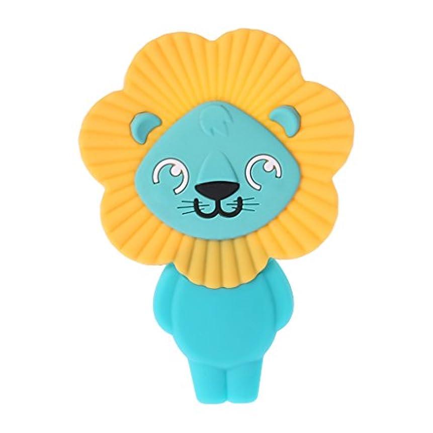抵抗ケージ中絶Landdumシリコーンおしゃぶりかわいいライオンのおしゃぶり赤ちゃん看護玩具かむ玩具歯が生えるガラガラ玩具