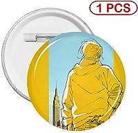 缶バッジ ボタンバッジ 缶バッチ ピンバッチ バッジ コレクション Badge Button ボタンブローチ おもちゃ雑貨 工芸品 簡単 軽量 リュック トートバッグ ラペルピン ジャケット