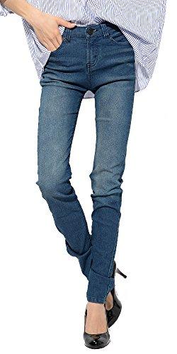 ダークブルー L (ミレイナ)MIREINA 美脚 スーパーストレッチ スキニー デニムパンツ ジーンズ ジーパン レディース S103368-006-616