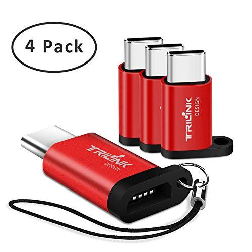 USB Type-C Micro USB 変換アダプタ【4個セット】マイクロ USB → タイプC変換 急速充電と高速データ転送対...
