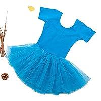 半袖の子供のダンス練習スカートバレエ衣装,9,120