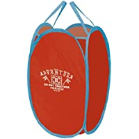 丸和貿易 収納バスケット ポップアップビート タテ型 (L) レッド 400812901