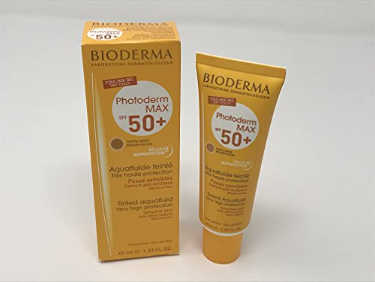 ドアミラーストライド残忍なBioderma Photoderm Max Tinted Aquafluide Spf50+ Golden Colour 40ml [並行輸入品]