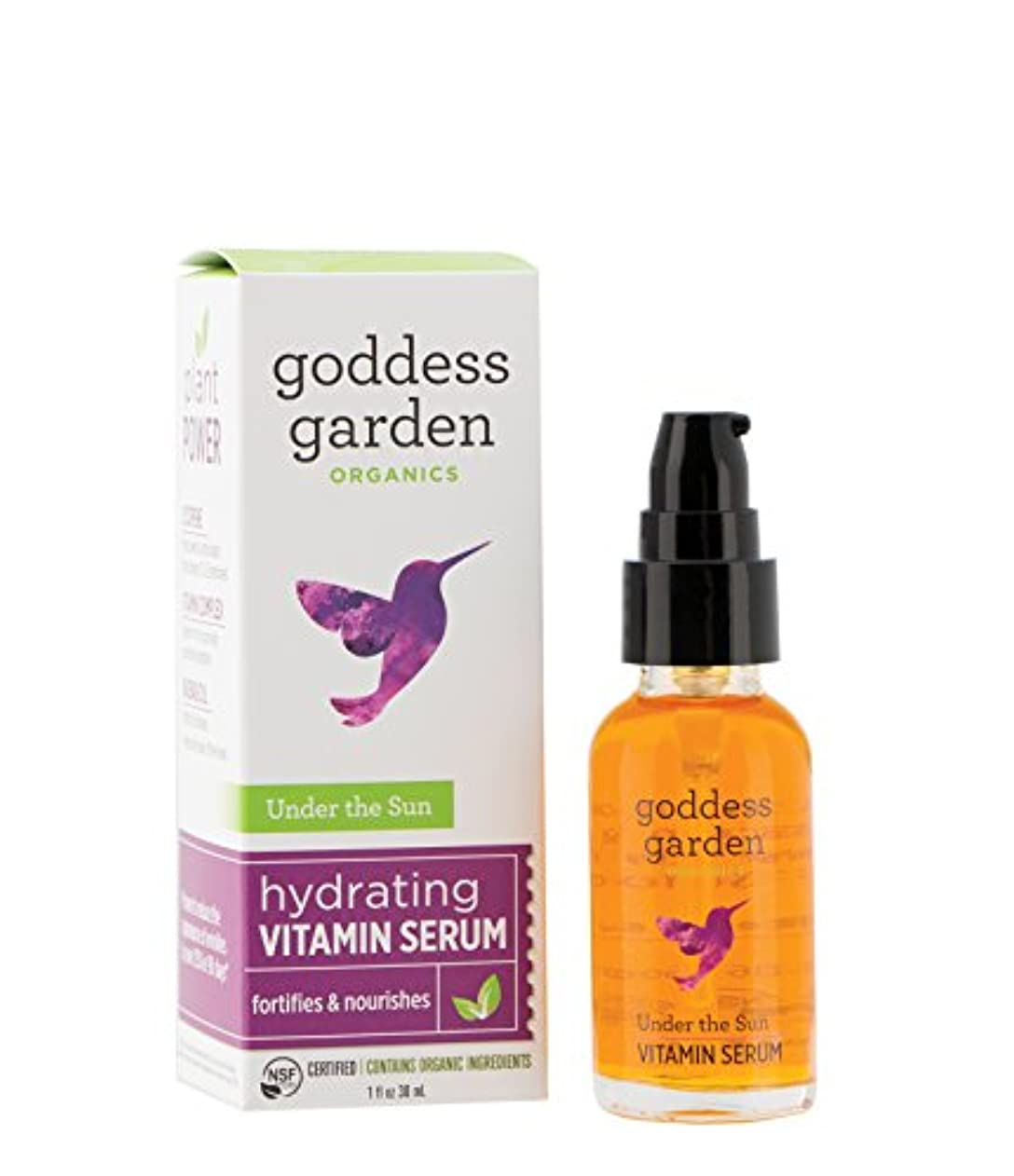 大砲東部輝度Goddess Garden サンハイドレイティングビタミンセラム(1オンス。ボトル)オーガニック、完全菜食主義、リーピングバニー認定虐待フリー、パラベンフリー、敏感肌に優しく、公認B社の下ではオーガニック