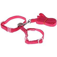 HOMYL Adjustable Pet Small Dog Puppy Cat Rabbit Nylon Durable Harness Collar Leash - Red