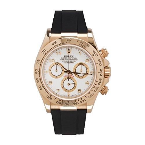 [ラバービー] RubberB ラバーベルト ROLEX デイトナ YG/WG専用(革ベルトモデル)(ROLEX純正バックルを使用)(ブラック) ※時計は付属しません(Watch is not included)[並行輸入品]