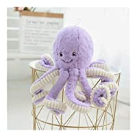Qiaoxianpo01 ぬいぐるみ、タコ人形ぬいぐるみタコ人形ホームオフィスデコレーションフォトスタジオの小道具、ブルータコ80cmの ,繊細で柔らかい ( Color : Purple , Size : 80cm )