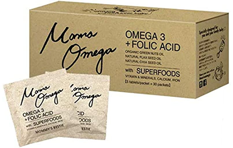 深遠はちみつ極めて重要なMama Omega ママオメガ 1か月分 30袋 葉酸 妊娠中でも飲める サプリ 元気な赤ちゃんとママのためのダブル処方! オメガ3
