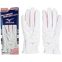 MIZUNO(ミズノ) ゴルフグローブ エフィル 手袋 両手 ホワイト×ピンク