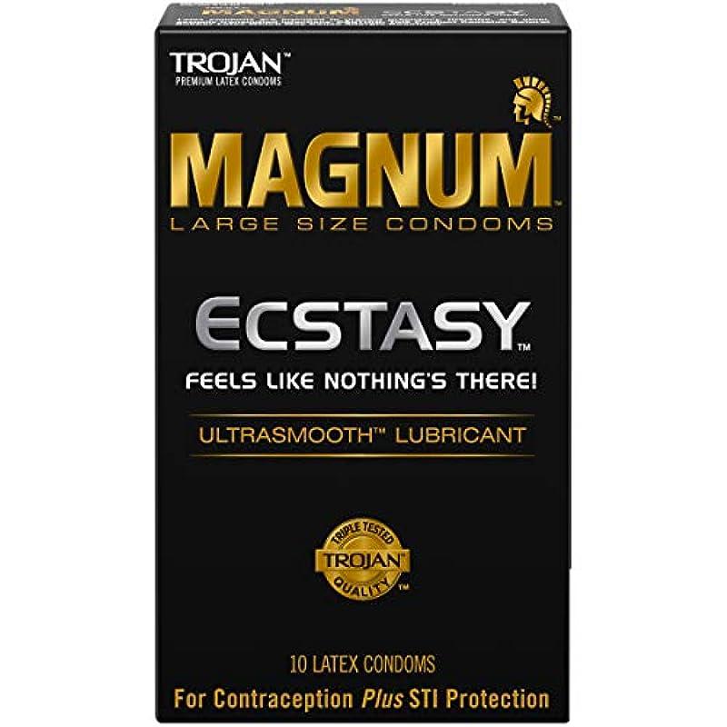 Trojan CondomエクスタシーMagnum Ultrasmooth潤滑材 – 10カウント(4パック)