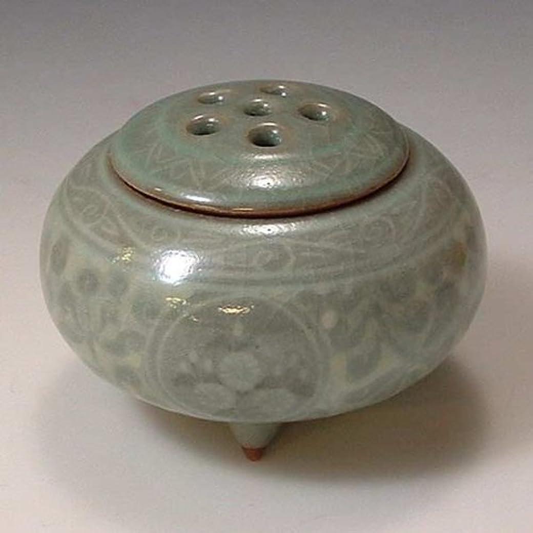いつ素朴な調和京焼 清水焼 豆香炉 象嵌青磁 ぞうがんせいじ YMD067