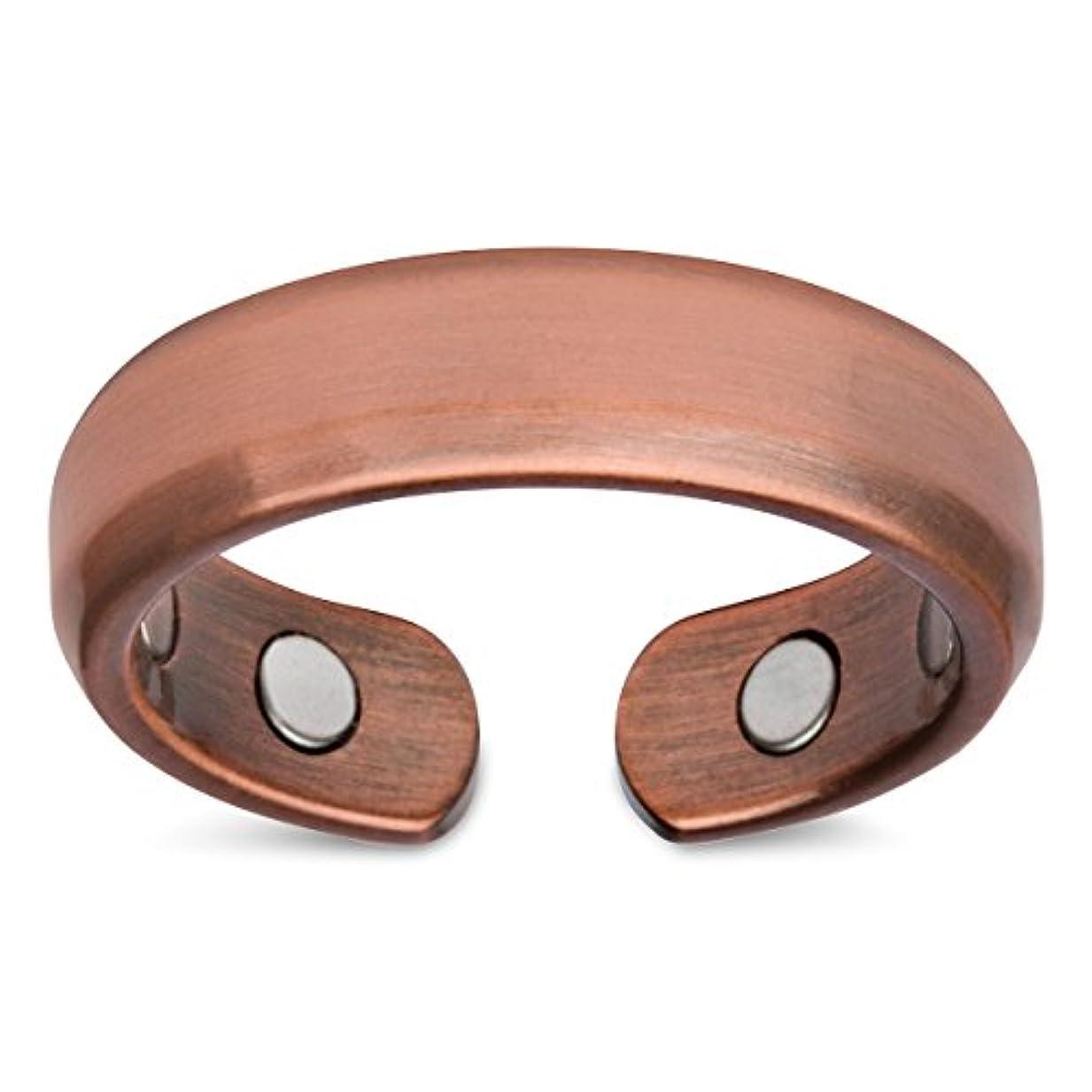 群衆おじいちゃん奇跡的なSmarter LifeStyle (2パックのリング) エレガントな純銅製 磁気療法用リング 関節炎や手根管の痛み緩和 (リングサイズ14)