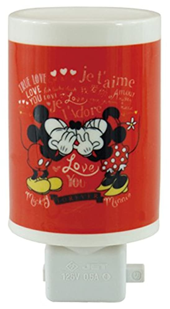 狂気電池カトリック教徒ディズニー セラミックアロマコンセントランプ ミッキー&ミニー