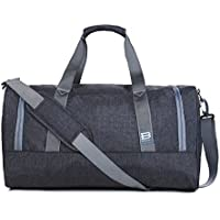 BAGSMART Travel Duffel Bag Large Foldable Weekend Shoulder Handbag overnight bag Gym Bag Carry-on with Shoe Bag 40L