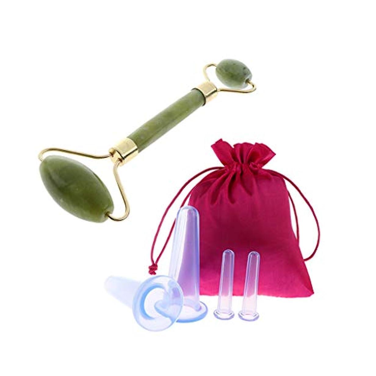 おもちゃアルミニウムきしむFLAMEER 美顔器 美顔ローラー 美容 小顔ローラー 美肌 収納袋付き 4本 シリコーン 抗セルライト 疲労緩和