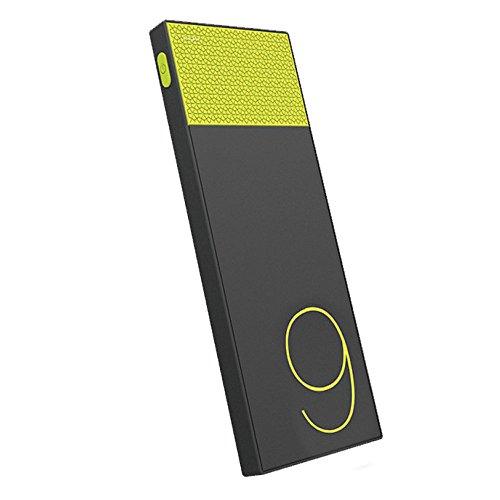 (リラックス)RELAX 大容量 モバイルバッテリー パワースリム 9000mAh 極薄型 急速充電 超軽量 2USBポート (イエロー)