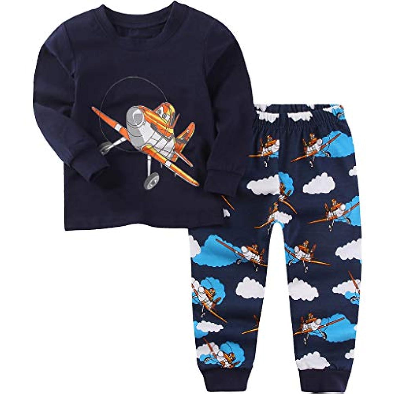 フェローシップポンプ落ち着かない男の子パジャマ スーツ 子供 綿パジャマ 女の子長い袖 ナイトウェア