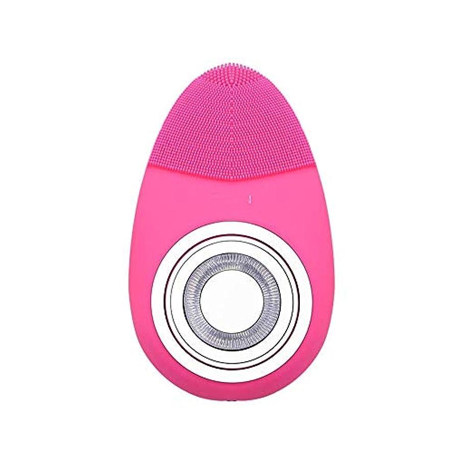 タイプライター容疑者懐疑論Cetengkeji 多機能電気恒温シリコーンクレンジング楽器赤灯肌清潔毛穴クリーナー輸入機器美容機器 (Color : Rose red)