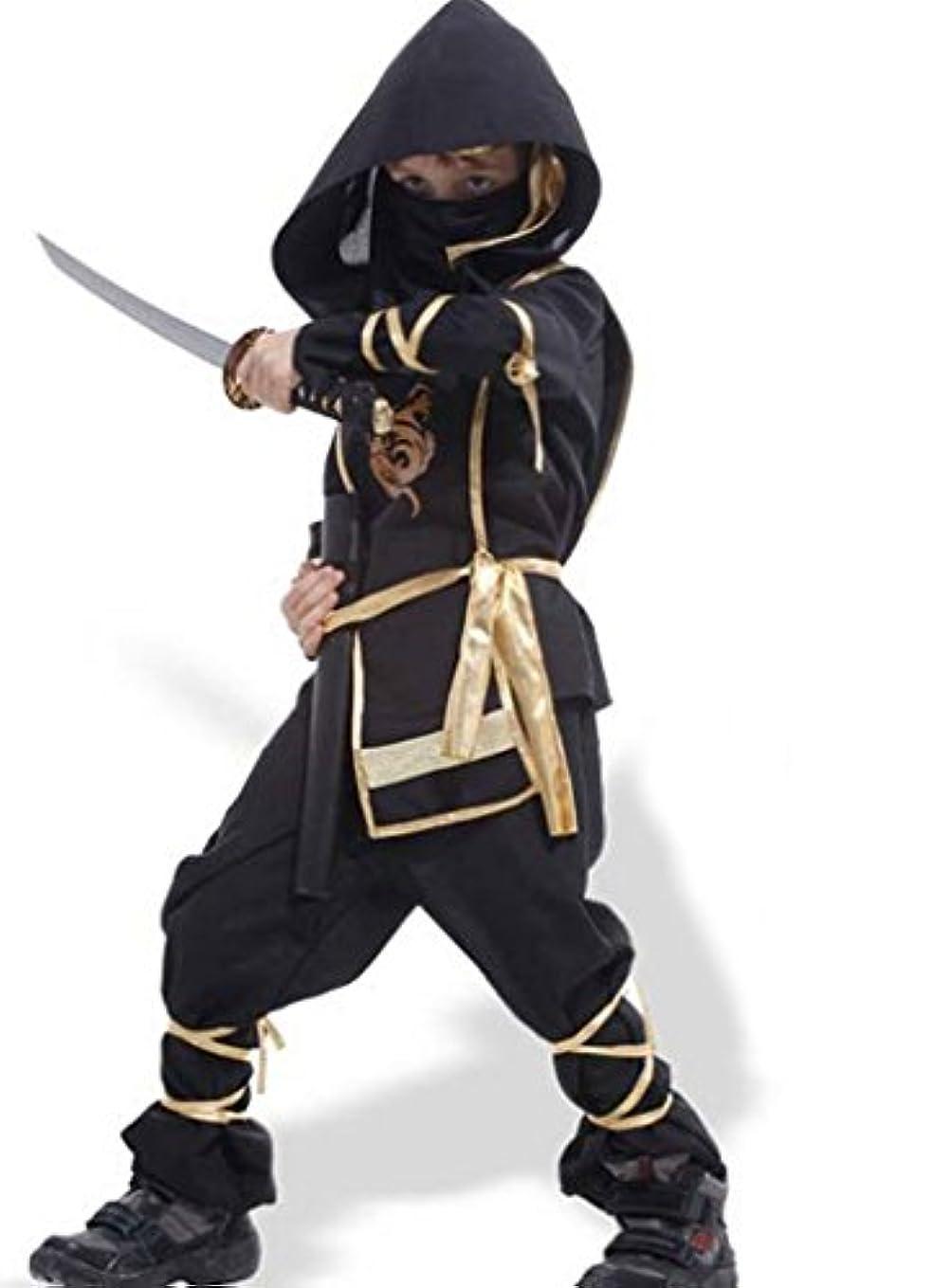 下る倒産シェル憧れの忍者になれる キッズ 子供用 忍者 コスプレ 衣装 ハロウィン 仮装 パーティー (Mサイズ)