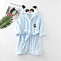 Girls Boys Bathrobe Kids Animal Soft Short Hooded Fleece Panda Cosplay Bathrobe Dressing Gown Night Lounge Wear Age 5 6 7 8 9 10 11 12 13 14 Years (Color : E Blue, Size : 140CM)