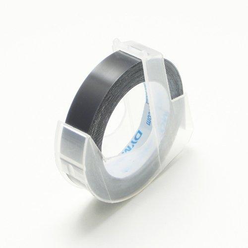 ダイモ テープ 幅9mm×3m巻 つやあり 黒 DM0903B
