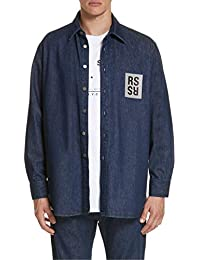 [ラフ・シモンズ] メンズ シャツ Raf Simons Carry Over Denim Shirt [並行輸入品]
