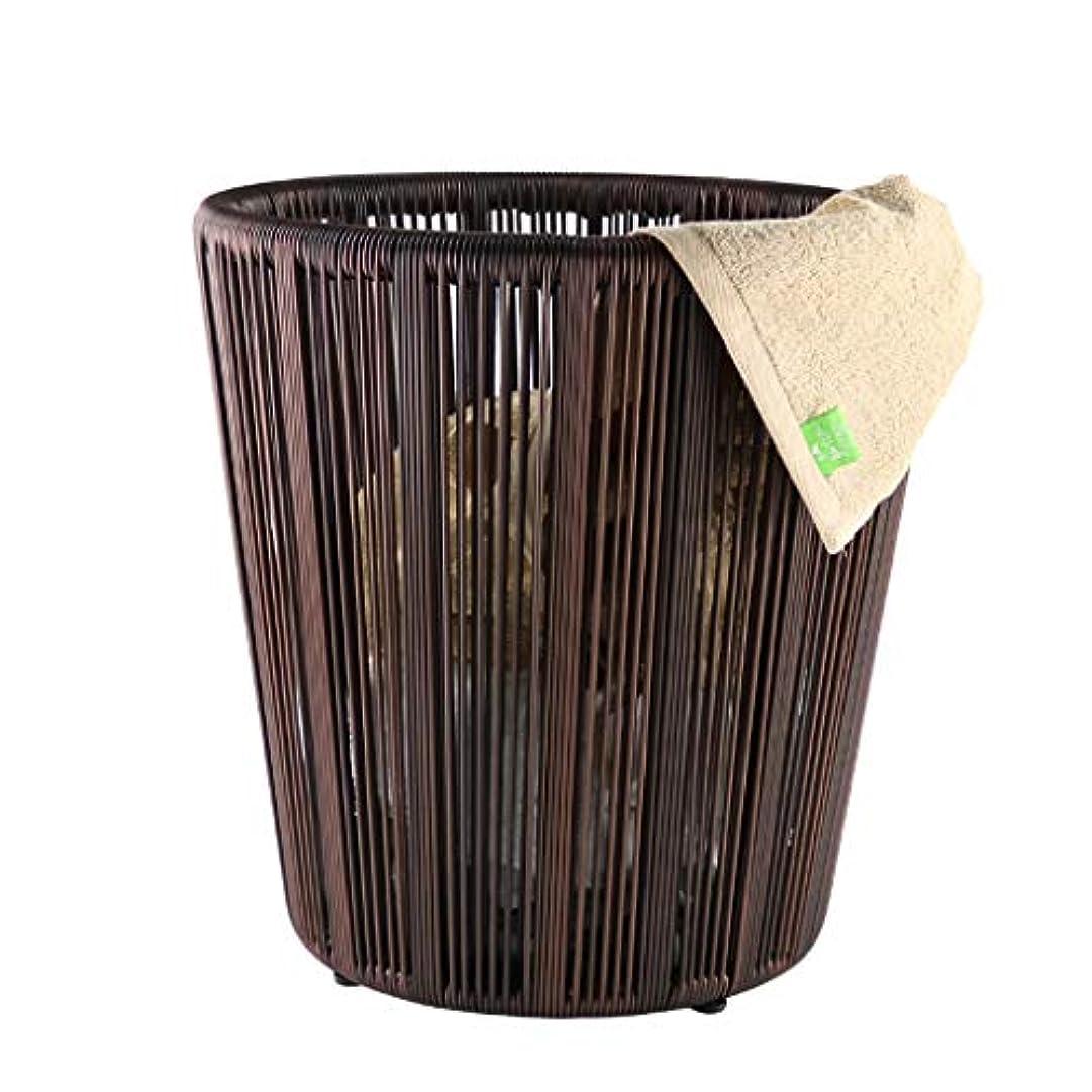 カレッジターゲット亡命QYSZYG タオルバスケットホテルのグッズ雑貨バスケット汚れた衣類バスケットバスケット、茶色 収納バスケット
