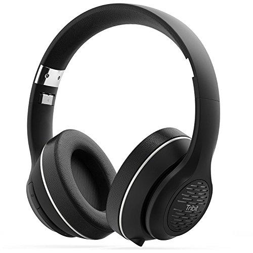 Bluetooth ヘッドホン Tribit 密閉型 ノイズキャンセル Bluetooth4.1 ヘッドホン CVC6.0搭載 マイク内蔵 高音質 折りたたみ式 ワイヤレスヘッドホン 有線無線両用 24時間連続再生 ハンズフリー通話可能 ブルートゥースヘッドホン XFree Tune