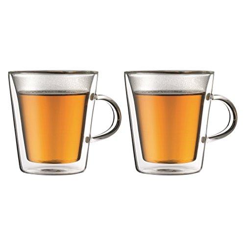 【正規品】 BODUM ボダム CANTEEN ハンドル付きダブルウォールグラス 200ml (2個セット) 10325-10