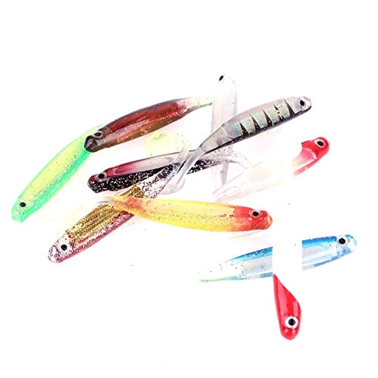 計画的広告主メガロポリスBolange バイオニックベイト 耐久性 シリコーン魚 with 10PCS /セット 色 釣り餌 フェイク餌