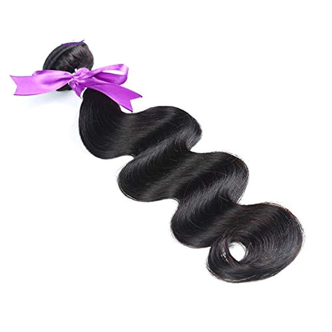 ヘアエクステンション織り髪8-28インチ実体波髪バンドル8aグレード人間の髪織りナチュラルカラー非レミー毛延長 (Stretched Length : 22inches)