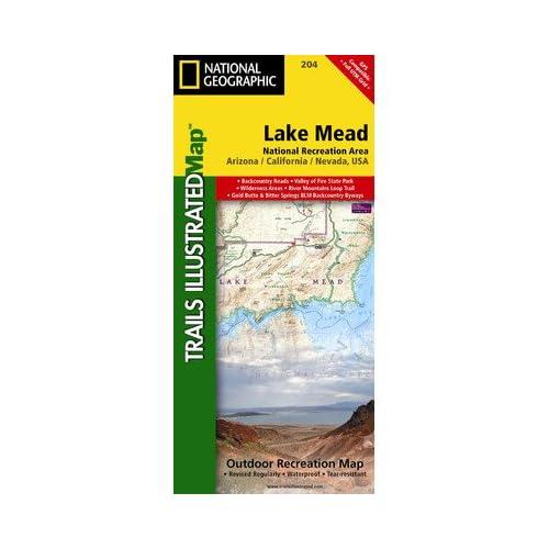 ミード湖国立保養地のナショナルジオグラフィックTI00000204地図 - ネバダ - アリゾナ州