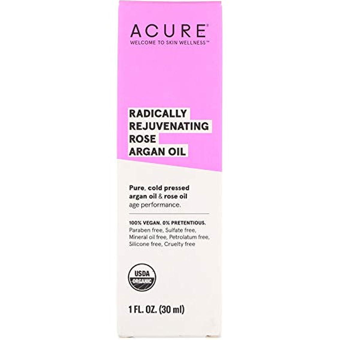 抑圧反逆放置Acure Organics, Radically Rejuvenating, Rose Argan Oil, 1 fl oz ローズアルガンオイル (30 ml) [並行輸入品]