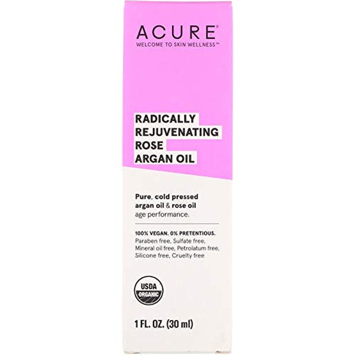 手つかずの地質学有利Acure Organics, Radically Rejuvenating, Rose Argan Oil, 1 fl oz ローズアルガンオイル (30 ml) [並行輸入品]