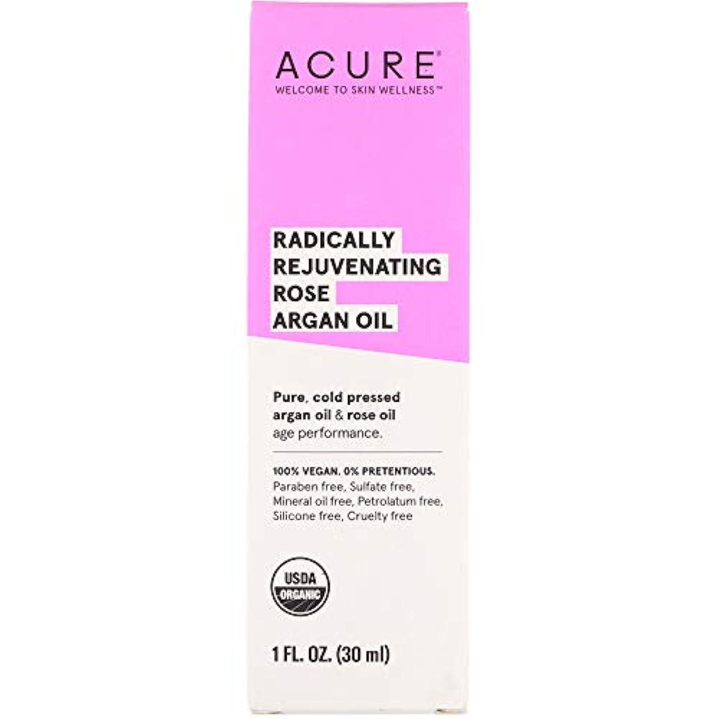 ファントーク団結Acure Organics, Radically Rejuvenating, Rose Argan Oil, 1 fl oz ローズアルガンオイル (30 ml) [並行輸入品]