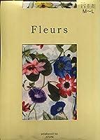 Fleurs(フルール) F-1576 プリントタイツ フローラルハーモニー 日本製 80デニール 50デニール展開 (IV, 80デニール M~L)