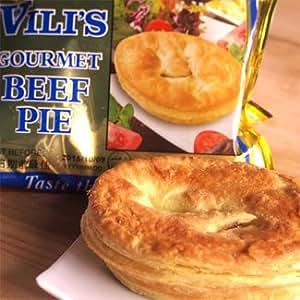 ミートパイ ビーフパイ【オーストラリアVili's】/牛ミンチパイ包み/100%オージービーフ使用 (ギフト対応) (直輸入品)【販売元:The Meat Guy(ザ・ミートガイ)】: 食品・飲料・お酒