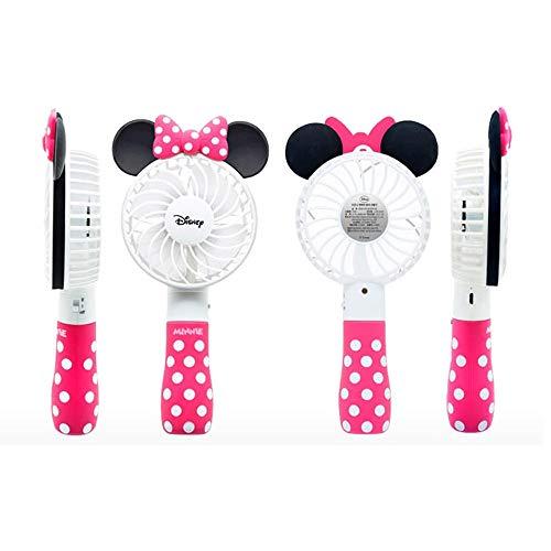 【夏・期間限定】 ディズニー カラー 携帯 扇風機 Disney Color Handy Fan 流行 夏 キャラクター 可愛い 便利 涼しい 女子力 アクセサリー 季節 人気 ダイエット ハンディ ファン 〈ミニー・Minnie〉