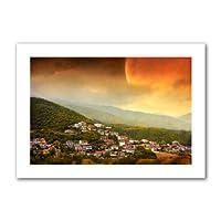 Art Wall Dragos ダミトラスク レッド ドーン フラット アンラップキャンバス アート 16 by 22-Inch 0dum024a1218r