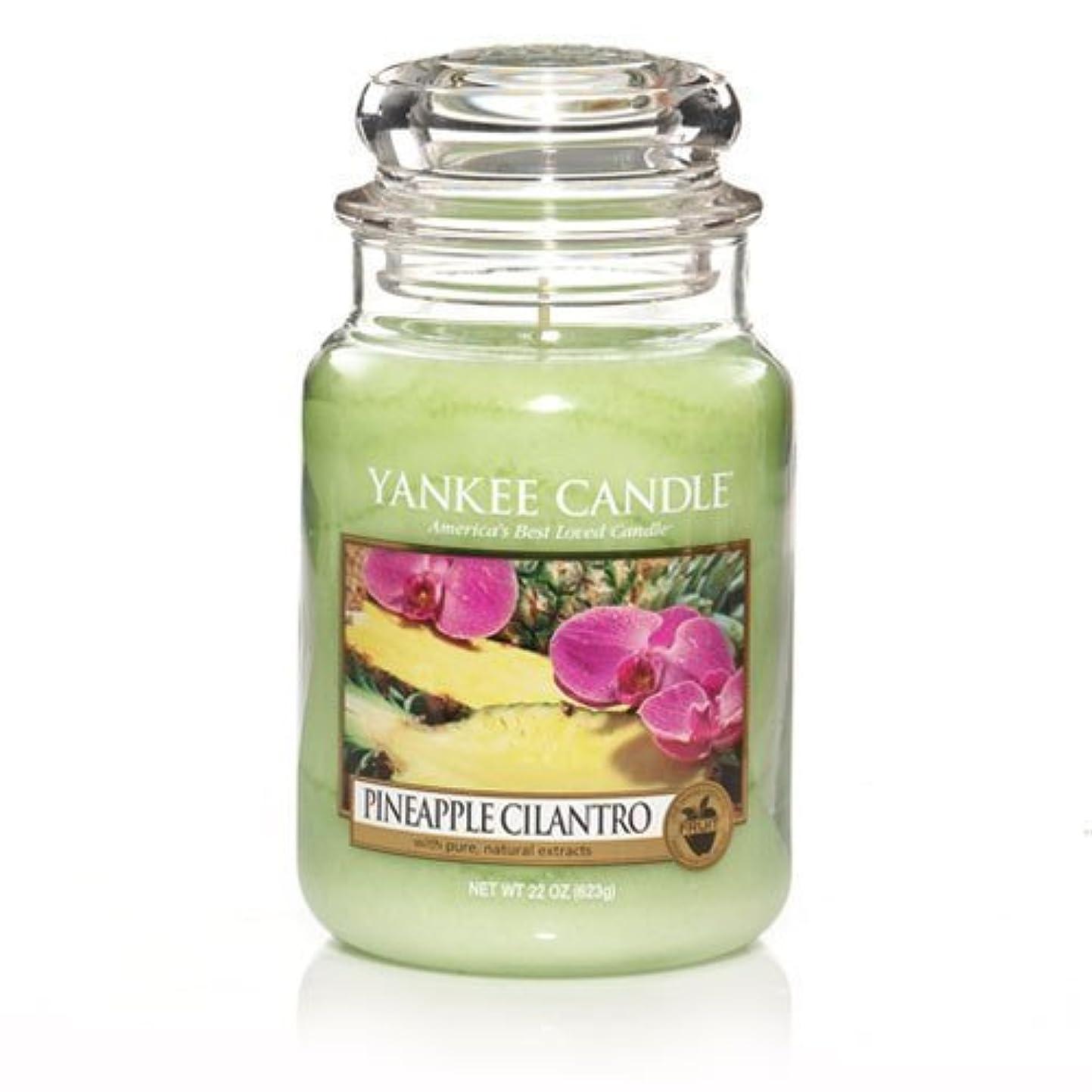 特殊マイクロプロセッサ恥ずかしさYankee Candle Pineapple Cilantro Large Jar 22oz Candle by Amazon source [並行輸入品]