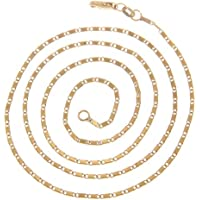 VPbao 2pcs Jewellery Plated Gold Necklace Chain for Women Set