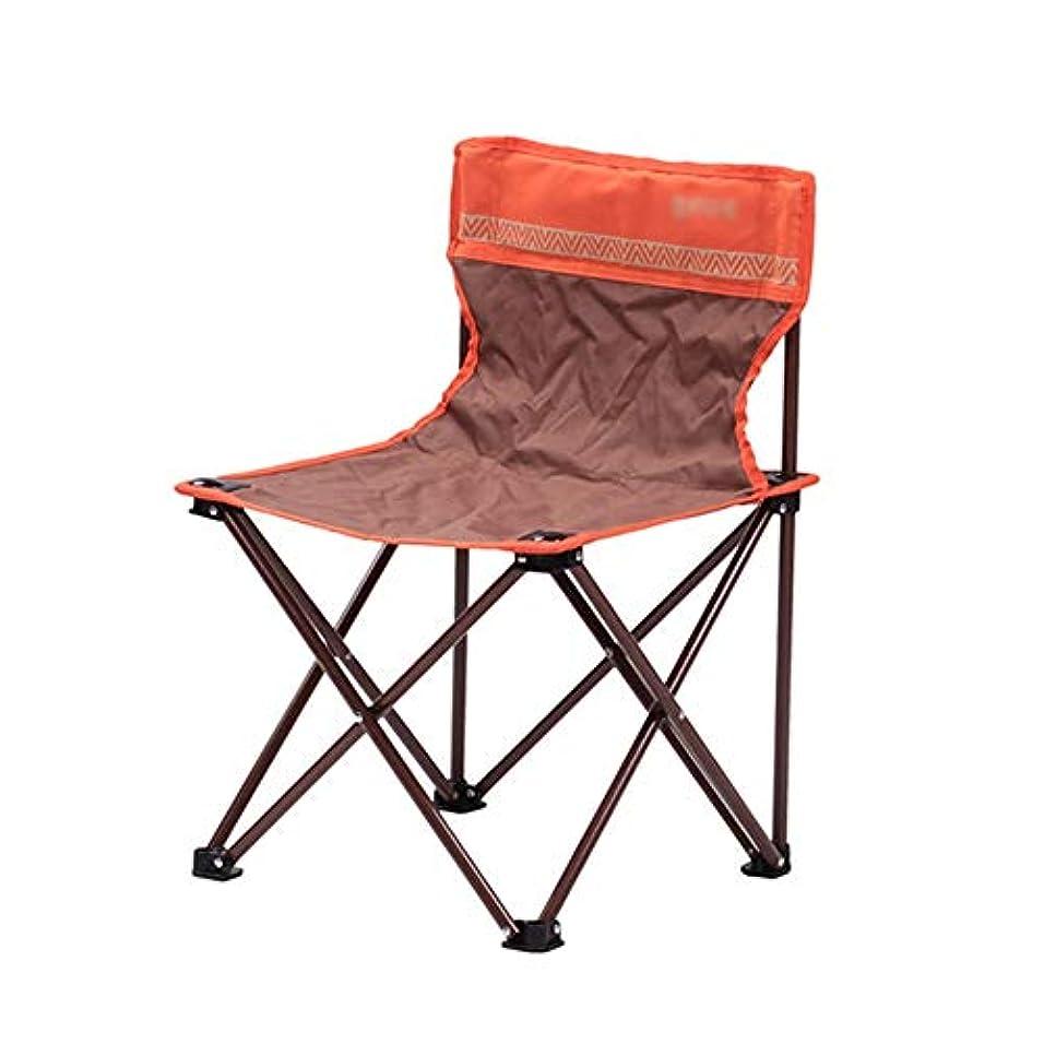 キャリングケース付きコンパクト折りたたみチェア、アウトドアキャンプ、旅行、ビーチ、ピクニック、フェスティバル、ハイキングチェア (Color : Brown)