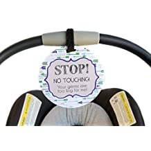 Boy Preemie sign newborn baby car seat tag baby shower gift stroller tag baby Preemie no touching car seat sign