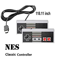 NES Classic Controller 2 Pack with 10FT Cable for Nintendo Mini NES Classic Edition, Kyerivs Joypad & Gamepads Controller[ 2020 Upgrade]
