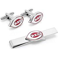 カフリンクス Cufflinks アクセサリー ネクタイ Cincinnati Reds Tie Bar & Cufflinks Set [並行輸入品]