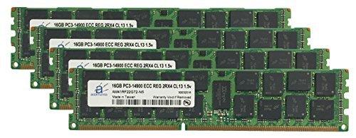 Adamanta 64GB ( 4x 16gb ) Appleメモリアップグレードfor Mac Pro 2013( 6コア) 3.5GHz md878ll / A ddr31866MHz pc3–14900ECC Registered 2rx4cl131.5V