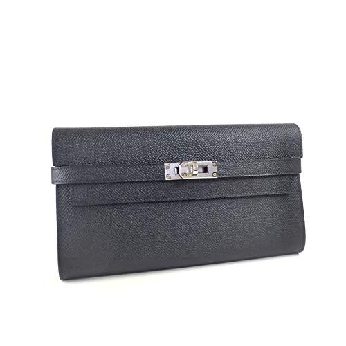 [エルメス ]二つ折り 長財布 ケリーウォレット ヴォーエプソン ブラック C刻 [並行輸入品]