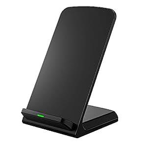 Seneo Qi ワイヤレス充電器 3つのコイル ワイヤレスチャージャー iPhone8 , iPhone 8 Plus , iPhone X /Samsung Galaxy Note 8, S8, S8 Plus, S7, S7 Edge, Note 5, S6 Edge Plus/Nexus/Kyocera/他Qi対応機種 スタンド型(ブラック)
